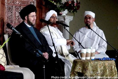 Sayid Hassan Qazwini bersama Habib Umar bin Hafiz