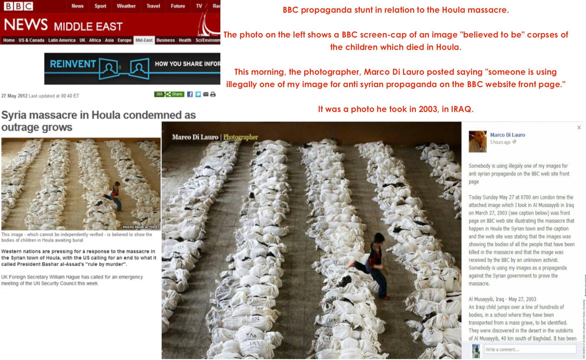 BBC Caught In Syria Massacre Propaganda Hoax