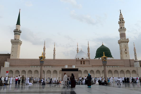 Muslim Pilgrims at Masjid al Nabawi