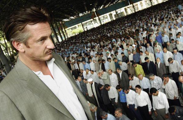 Hollywood US actor Sean Penn looks at Ir